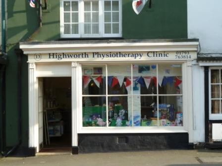 Highworth Physiotherapy shop front