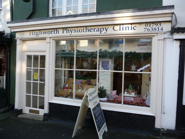 picture of clinic where physiotherapists work shop front on high street grade 2 listed